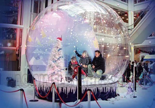 Giant snowglobe photo booth