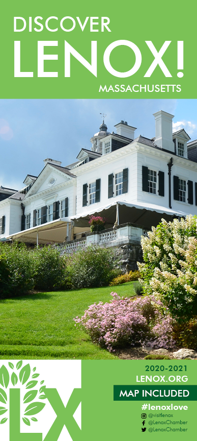 Discover Lenox Visitor Guide cover with picture of The Mount, Home of Edith Wharton.
